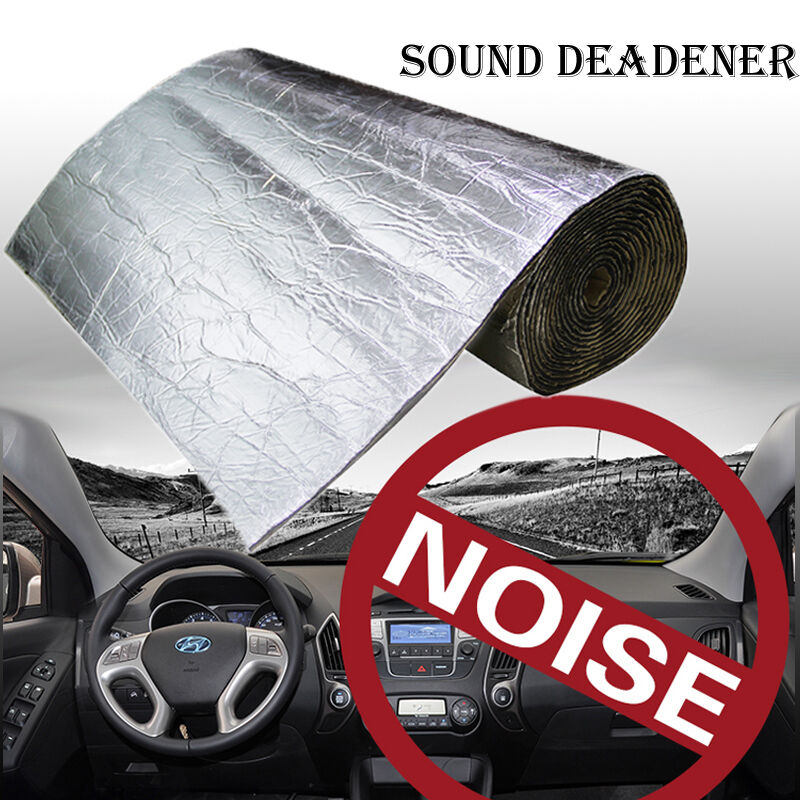 100cmx50cm firewall sound deadener car heat shield insulation deadening material ebay. Black Bedroom Furniture Sets. Home Design Ideas