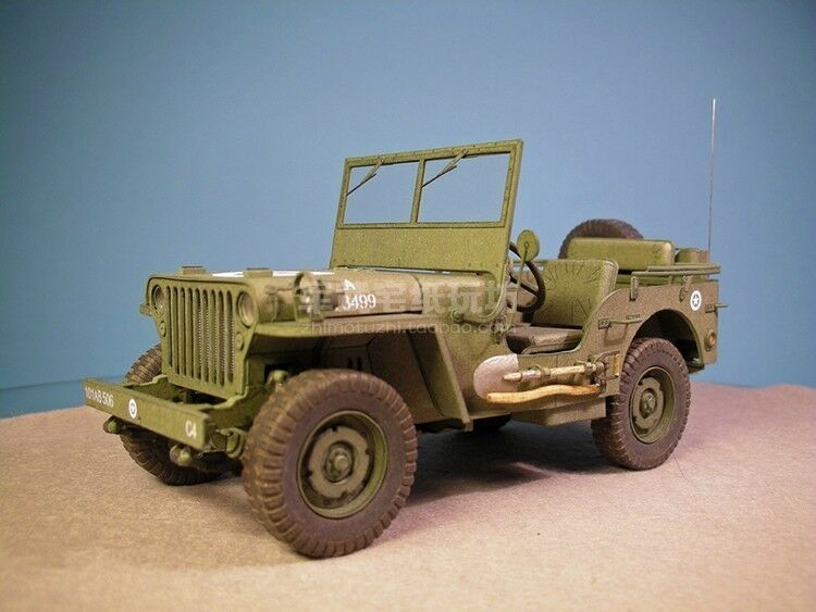 Kit Cars To Build Yourself In Usa: World War II Willys Jeep Car Paper Model Do It Yourself