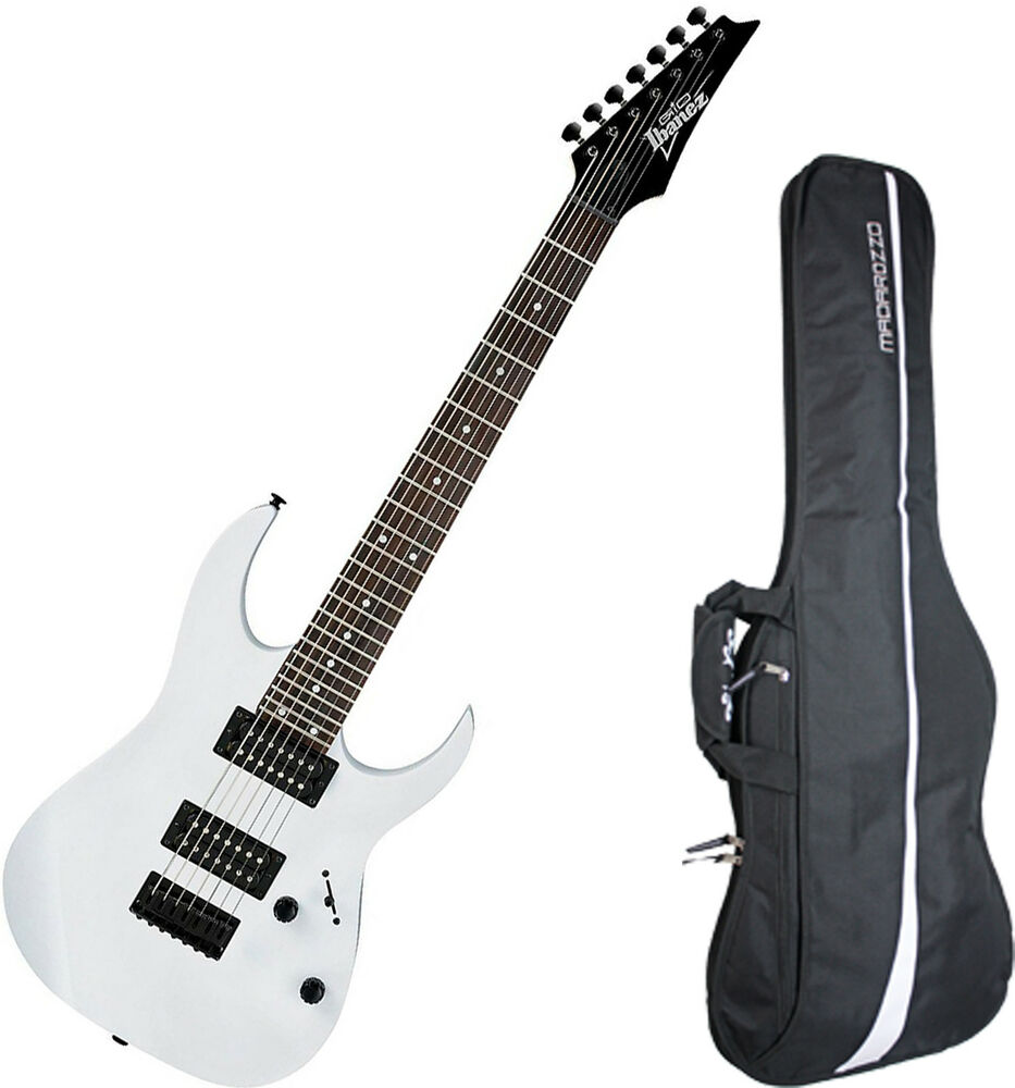 ibanez grg7221 white gio 7 string electric guitar bundle with gig bag ebay. Black Bedroom Furniture Sets. Home Design Ideas