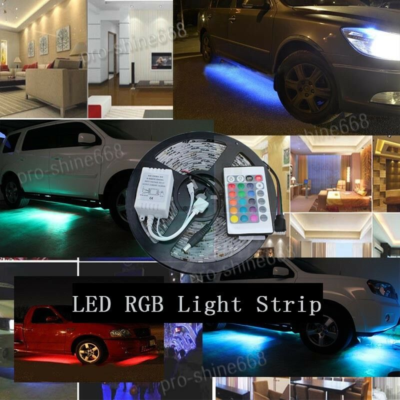 16FT 5M Multi-Color LED Glow RGB Strip Light Kit Kitchen
