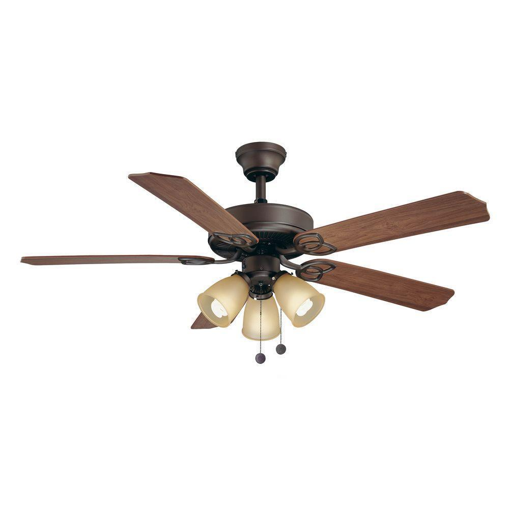 Lighting Fans: Brookhurst 52 In. Indoor Oil-Rubbed Bronze Ceiling Fan