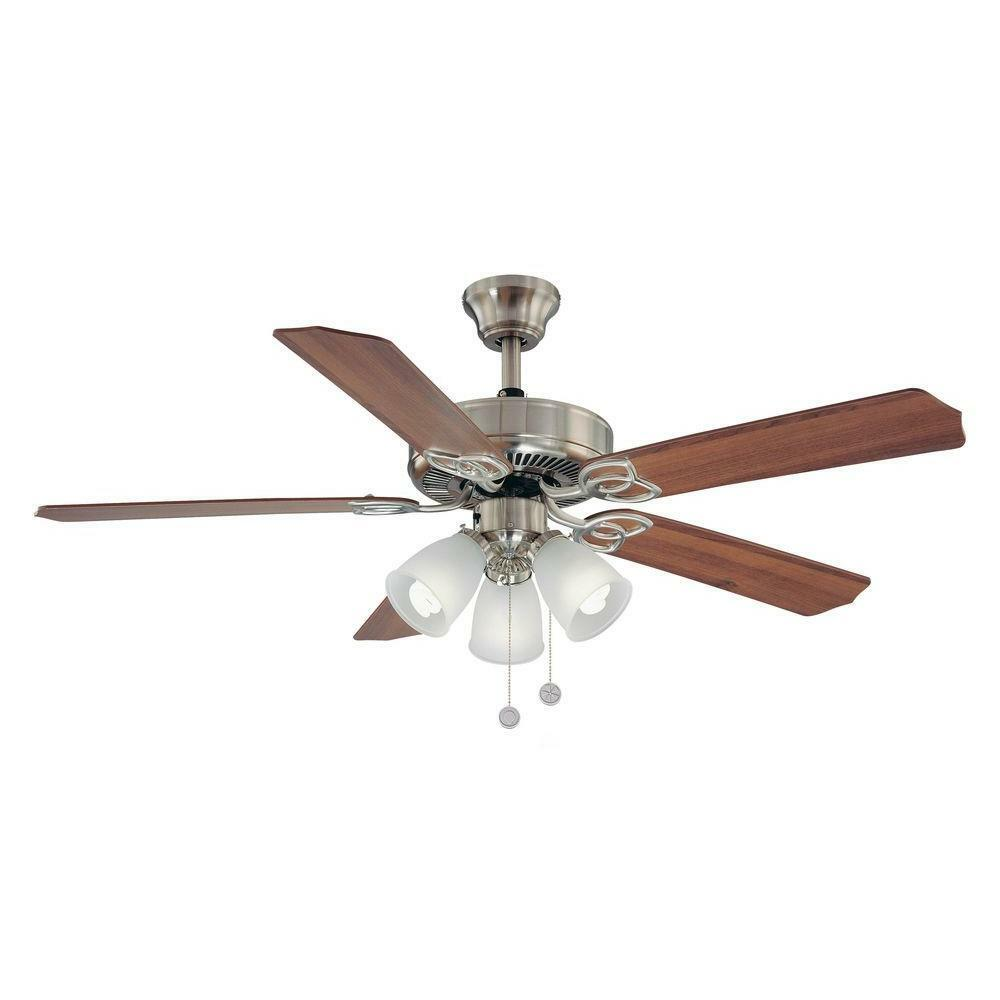 Hampton Bay Ceiling Fan Replacement Parts: Brookhurst 52 In. Indoor Brushed Nickel Ceiling Fan