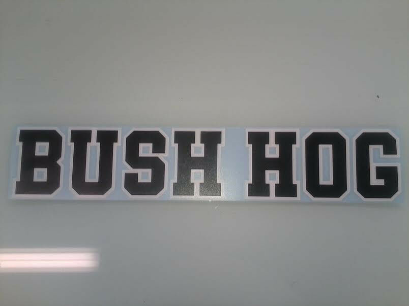 Bush Hog Decal Ebay