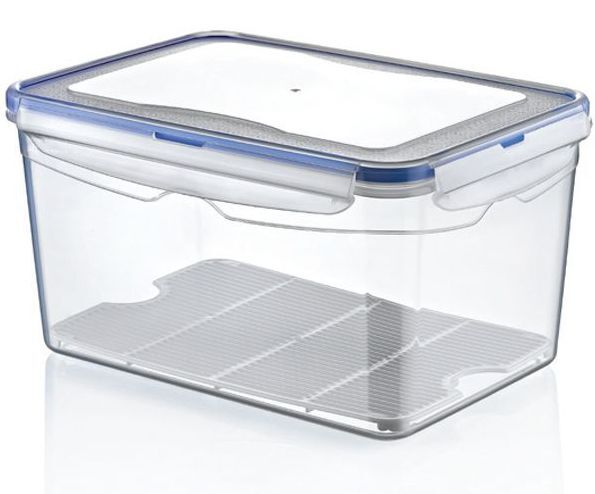 9 litre large air tight containers boxes clear plastic. Black Bedroom Furniture Sets. Home Design Ideas