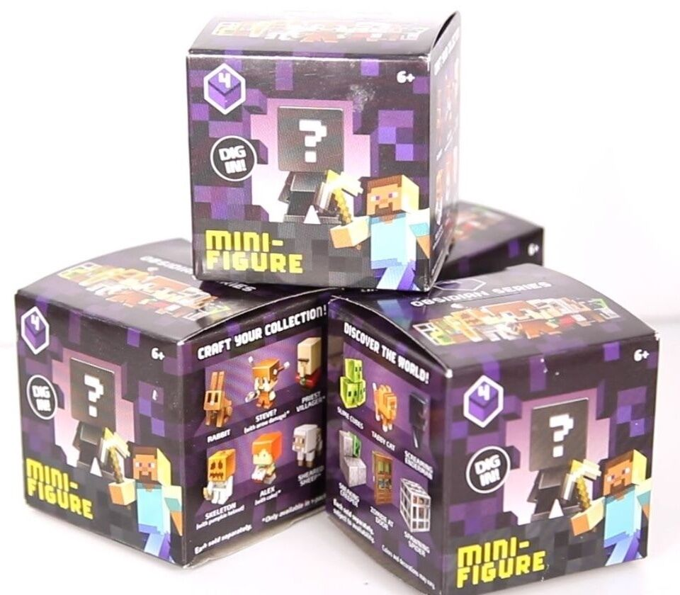 minecraft mini figure obsidian series 4 blind box brand new 683422427916 ebay. Black Bedroom Furniture Sets. Home Design Ideas