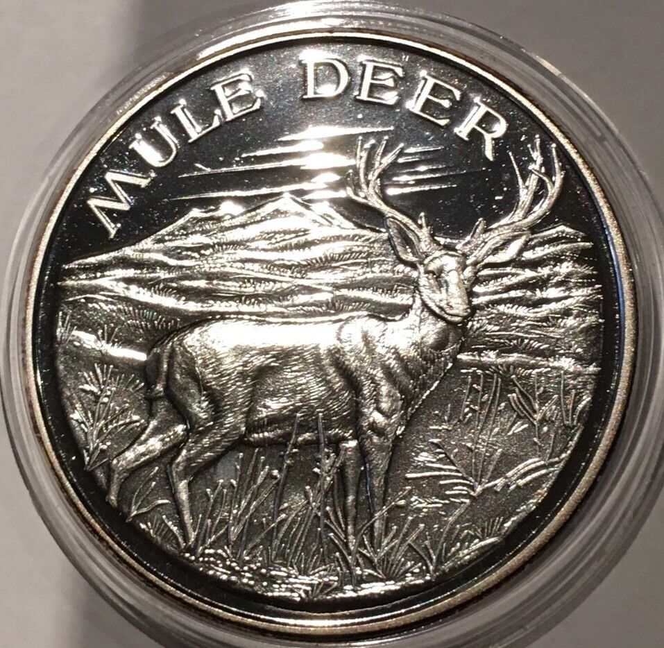 North American Wildlife Series Mule Deer 2 Troy Oz 999