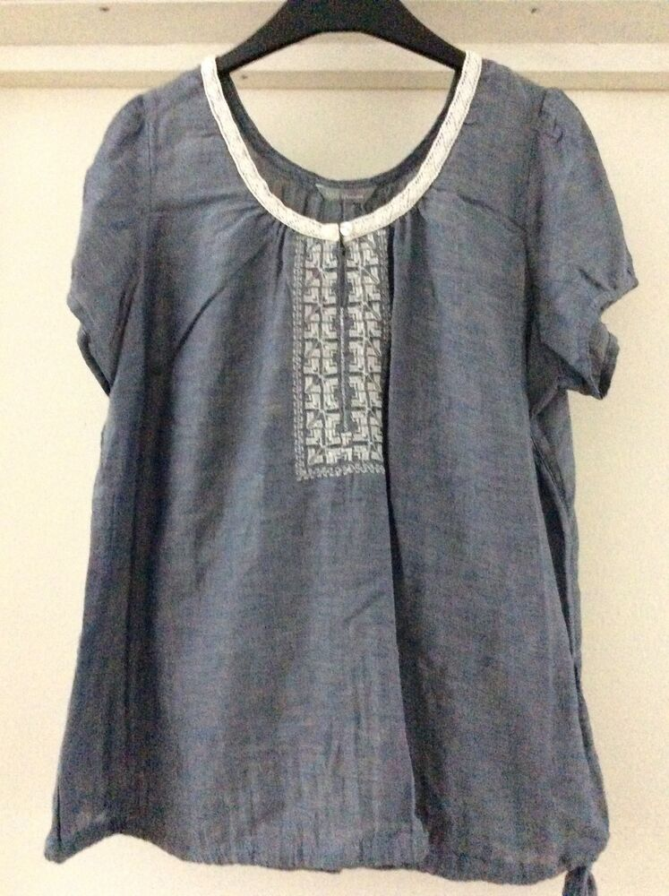 Bnwt Marks & Spencer Chambray Cotton Top Size 8-24 | eBay