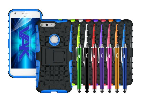 Google Pixel HeavyDuty Tough ShockProof Builder Hard Stand Case Cover