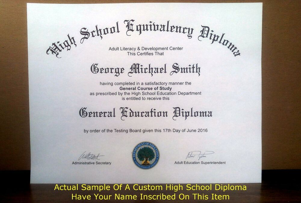 Fake Ged High School Diploma Ebay