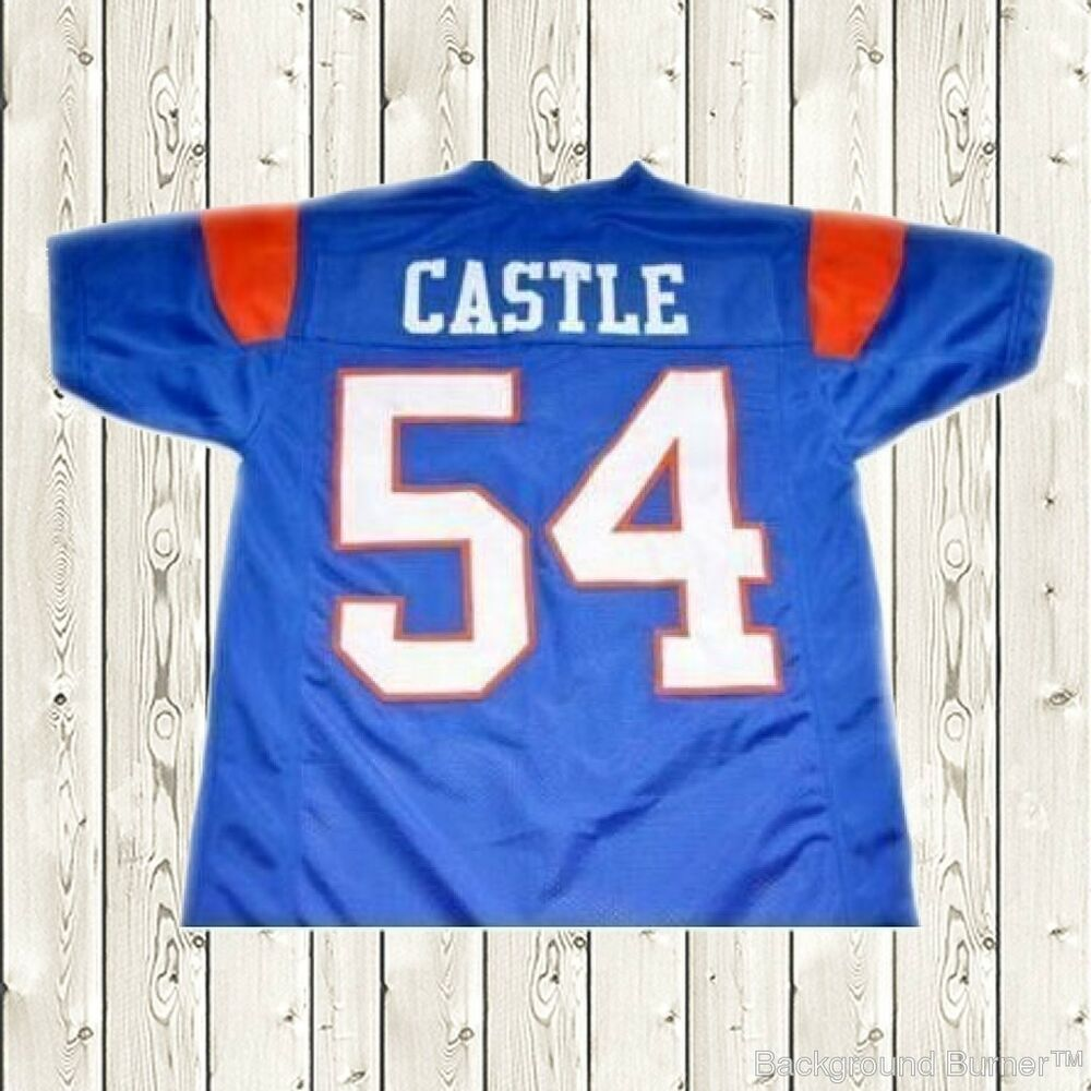 fceccd5ca Details about Thad Castle Football Jersey  54 Blue Mountain State Goats Movie  Stitched Blue