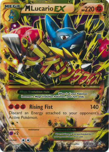 M Lucario EX 113 Mega Pokemon XY Furious Fists Secret Rare ...