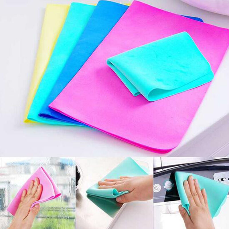 magic car washing wipe towel cloth absorber synthetic chamois leather good ebay. Black Bedroom Furniture Sets. Home Design Ideas