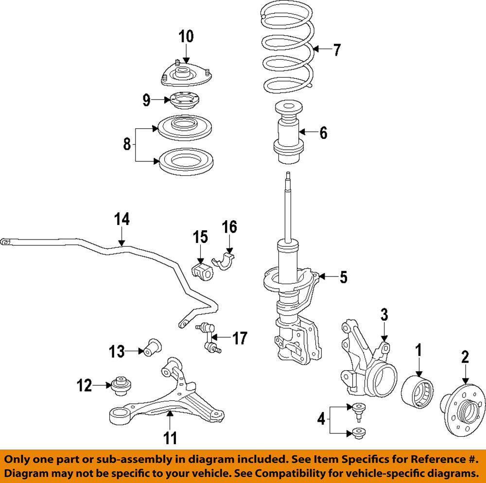 details about honda oem 02-05 civic front suspension-coil spring insulator  51402s5a701