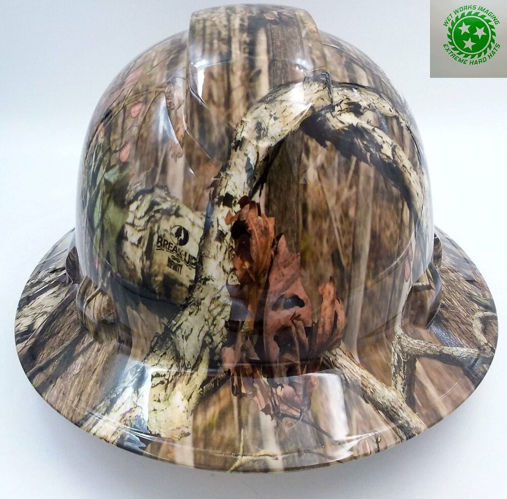 Hard Hat Full Brim Custom Hydro Dipped Osha Approved Break Up Infinity Camo Ebay