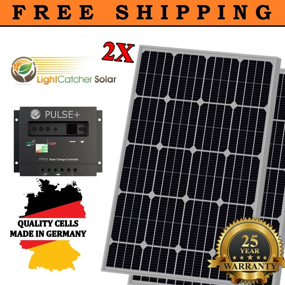 200 Watts Mono Solar Panel Kit 30a Charge Controller Rv
