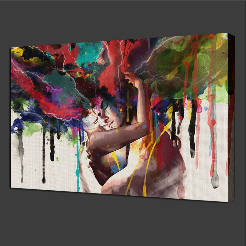 Unframed canvas print room wall art pictures home decor for Modern paintings for home