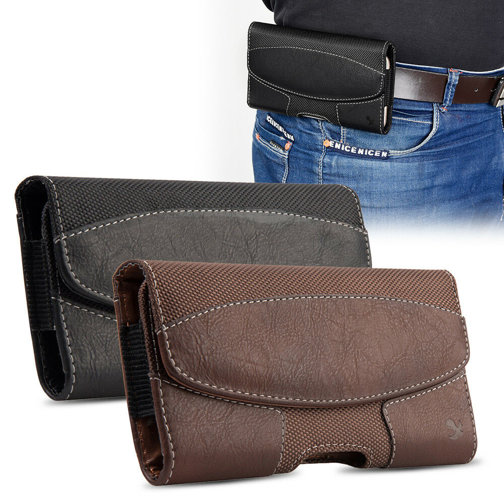 c4c0eacbf19 Horizontal Leather Case Pouch Holster w/ Belt Clip + Belt Loop for iPhone8  8Plus