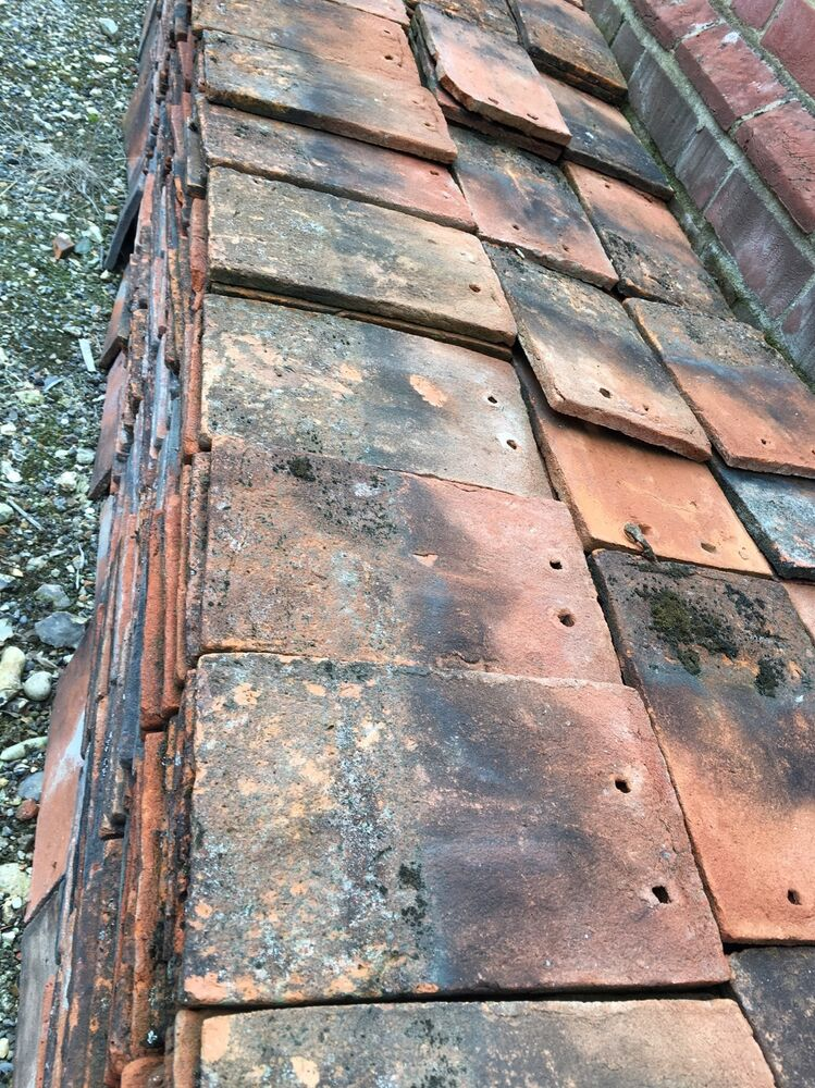 old clay roof peg tiles