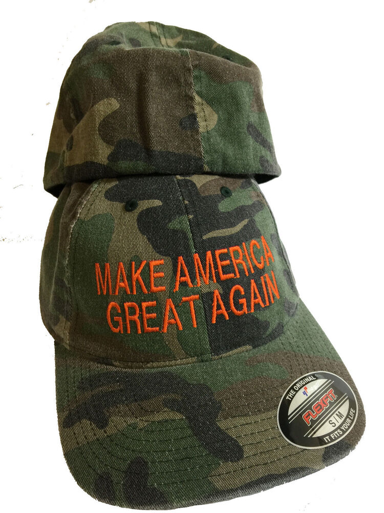 Make America Great Again Trump Camo Flex Fit Hat Cap Free