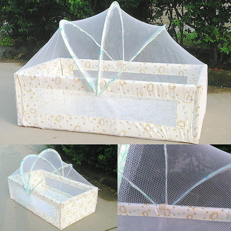 Baby White Mosquito Net Netting Canopy For Nursery Crib