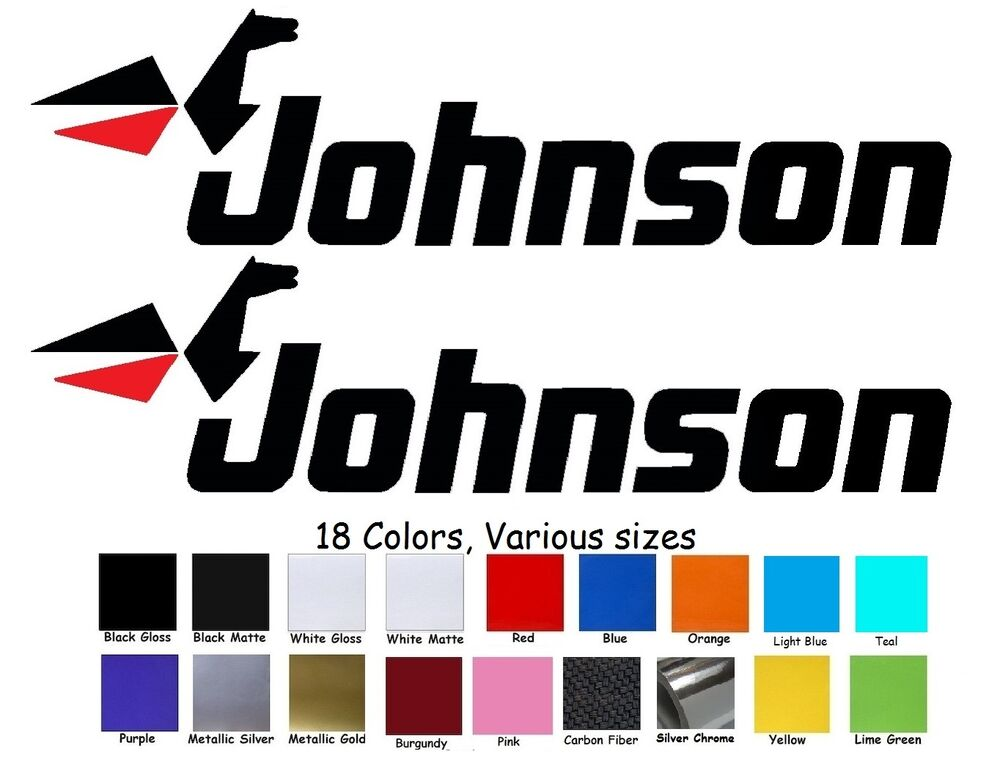 Johnson Outboard Motor Decal Kit Of 2 Reproduction Bass