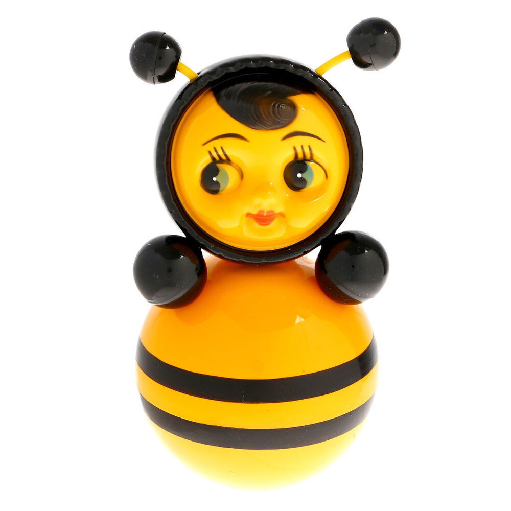roly poly bee russian toy nevalyashka new made in russia musical baby doll