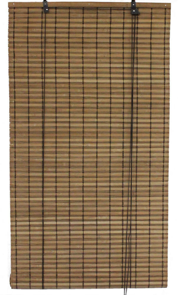6 39 x 6 39 72 x 72 brown bamboo slat roll up blinds window for Outdoor roll up privacy screens