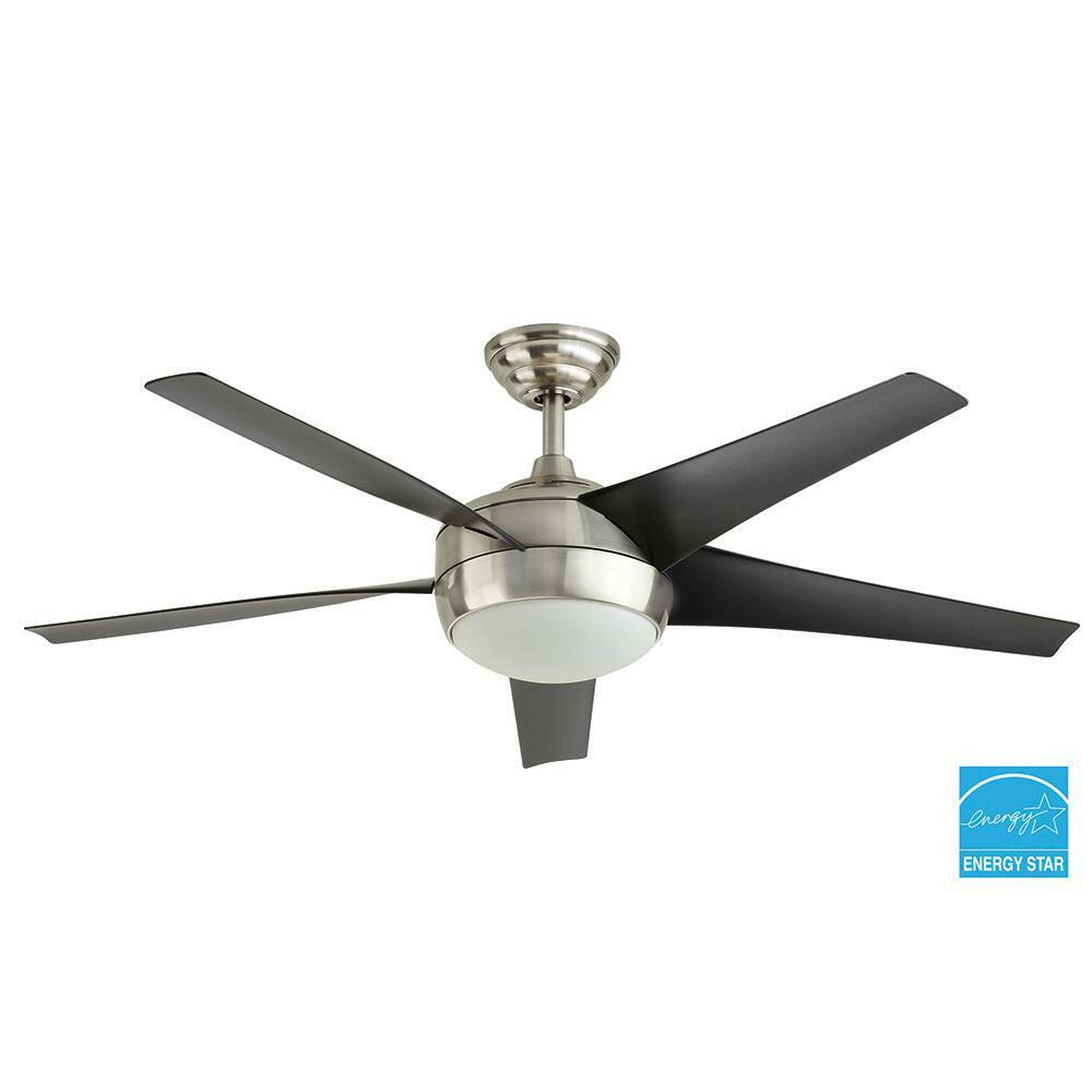 Parts To An Overhead Fan : Windward iv in brushed nickel ceiling fan replacement