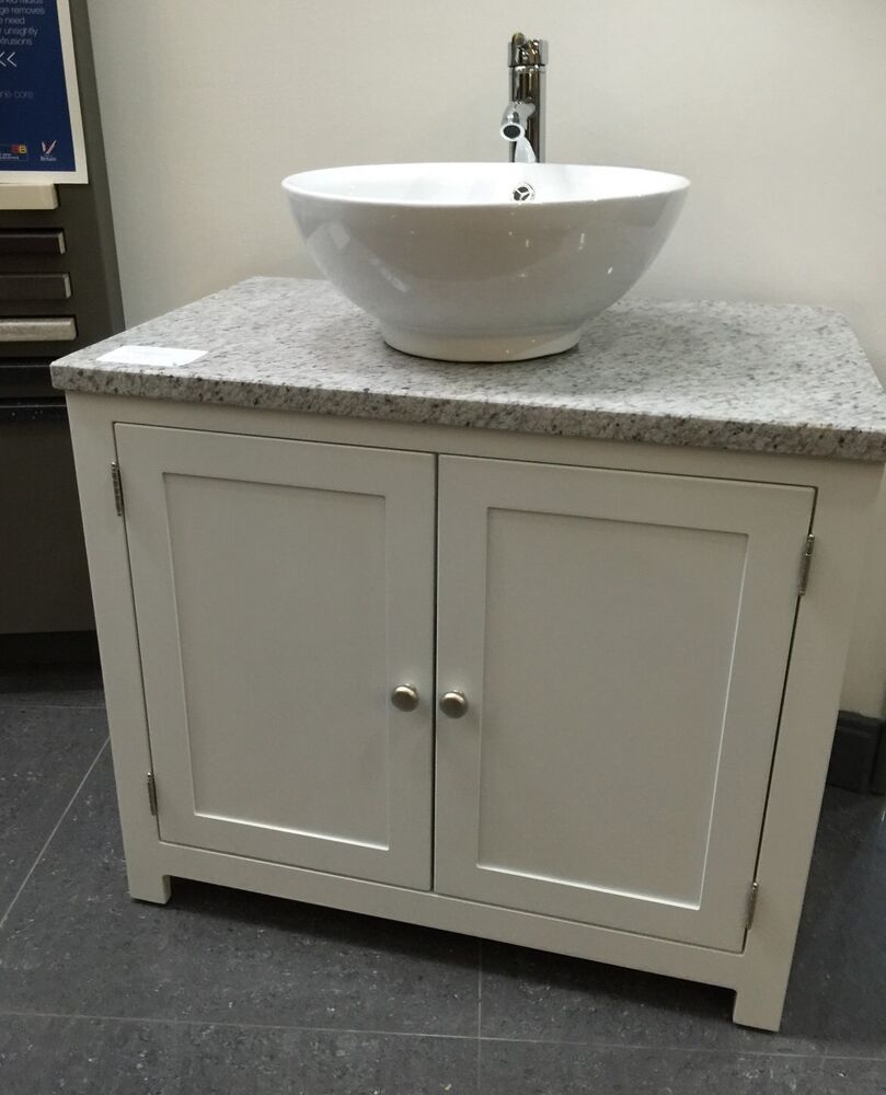 granite top painted vanity unit 800mm wide bathroom