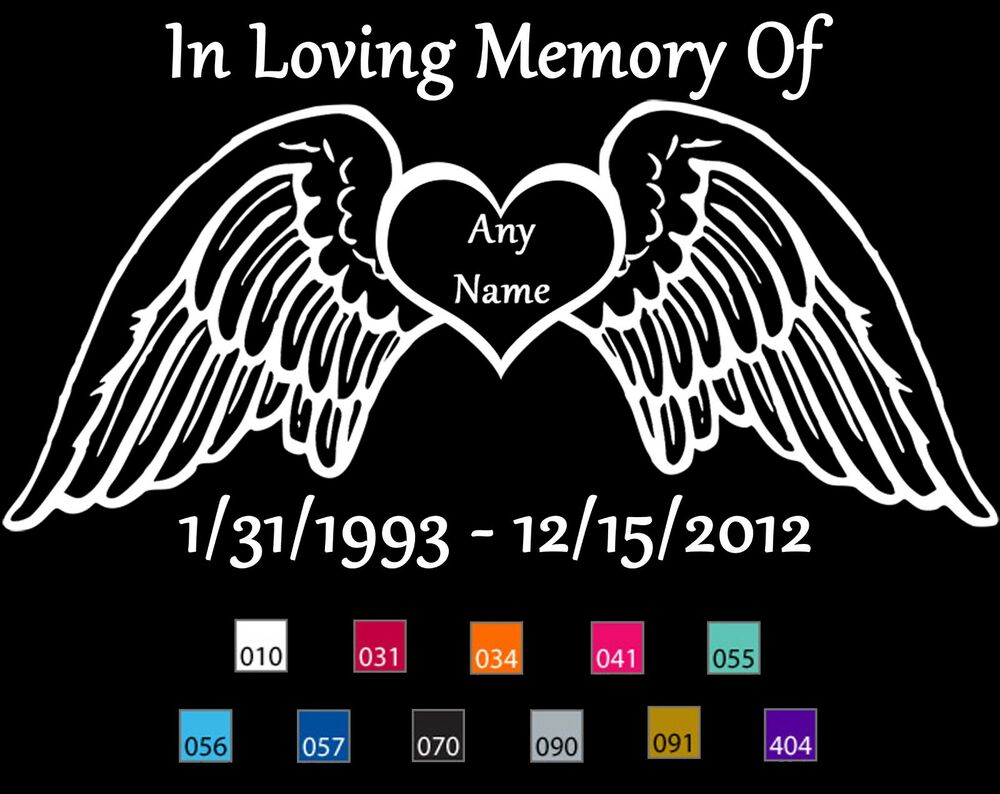 In Loving Memory Car Decals Custom Decals | Autos Post In Loving Memory Graphics