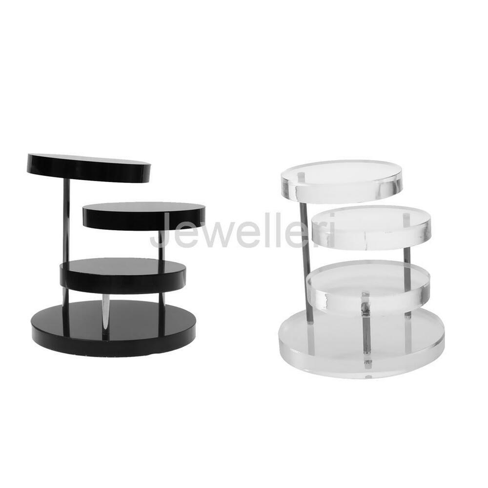 Exhibition Stand Organizer : Tier rotating jewelry retail display holder stand