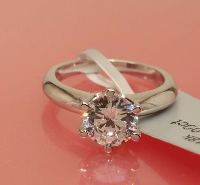 1 5 ct round cut diamond solitaire engagement ring white. Black Bedroom Furniture Sets. Home Design Ideas