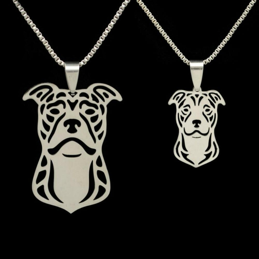 pit bull necklace stainless steel charm pendant new