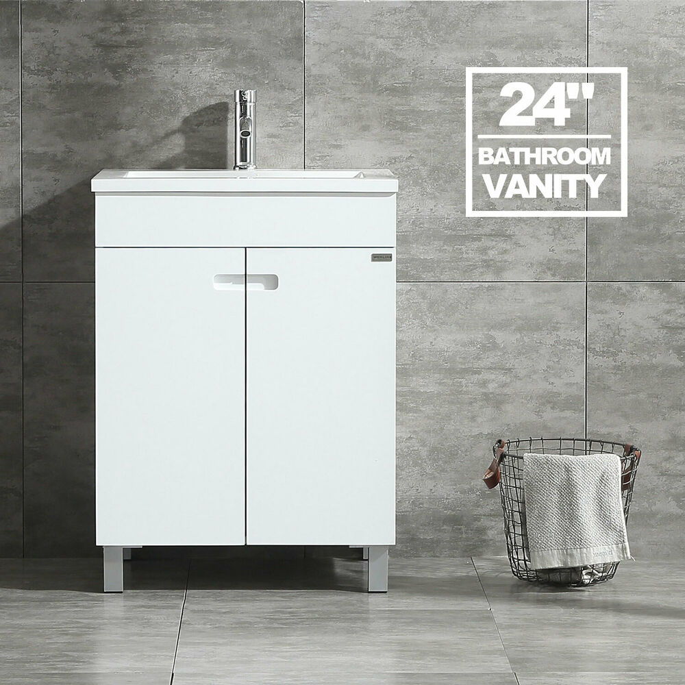 24 bathroom vanity cabinet storage under mount single - Under sink bathroom storage cabinet ...