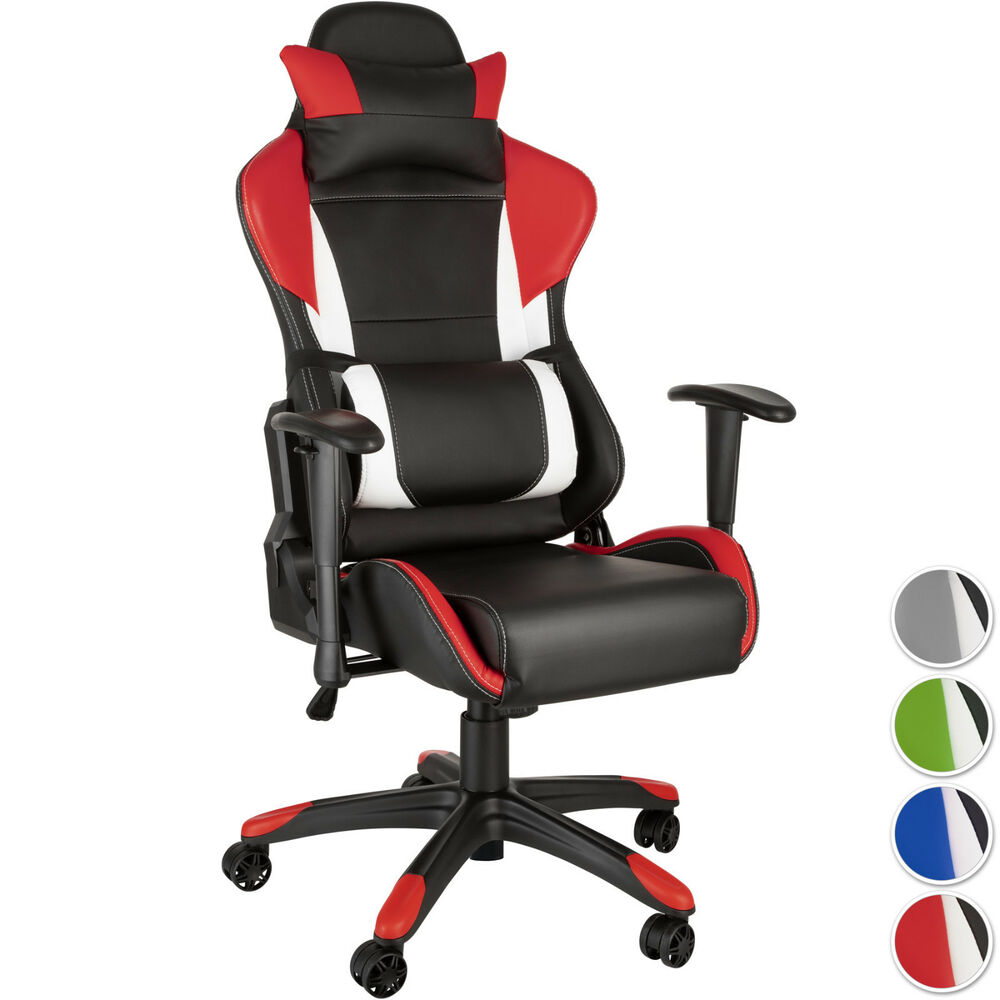 racing chaise fauteuil de bureau sport siege voiture simili r glable sportive ebay. Black Bedroom Furniture Sets. Home Design Ideas
