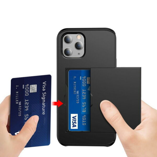 Shockproof Wallet Credit Card Pocket Holder Case Cover For iPhone X 8 6s 7 Plus