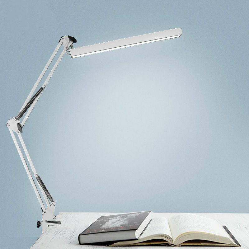 desk lamp work reading adjustable folding clip on led table swing arm light lamp ebay. Black Bedroom Furniture Sets. Home Design Ideas