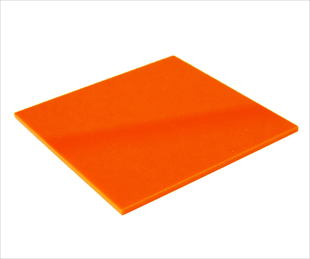 acrylic sheet orange gloss 3mm thickness perspex cast uv rated free post ebay. Black Bedroom Furniture Sets. Home Design Ideas