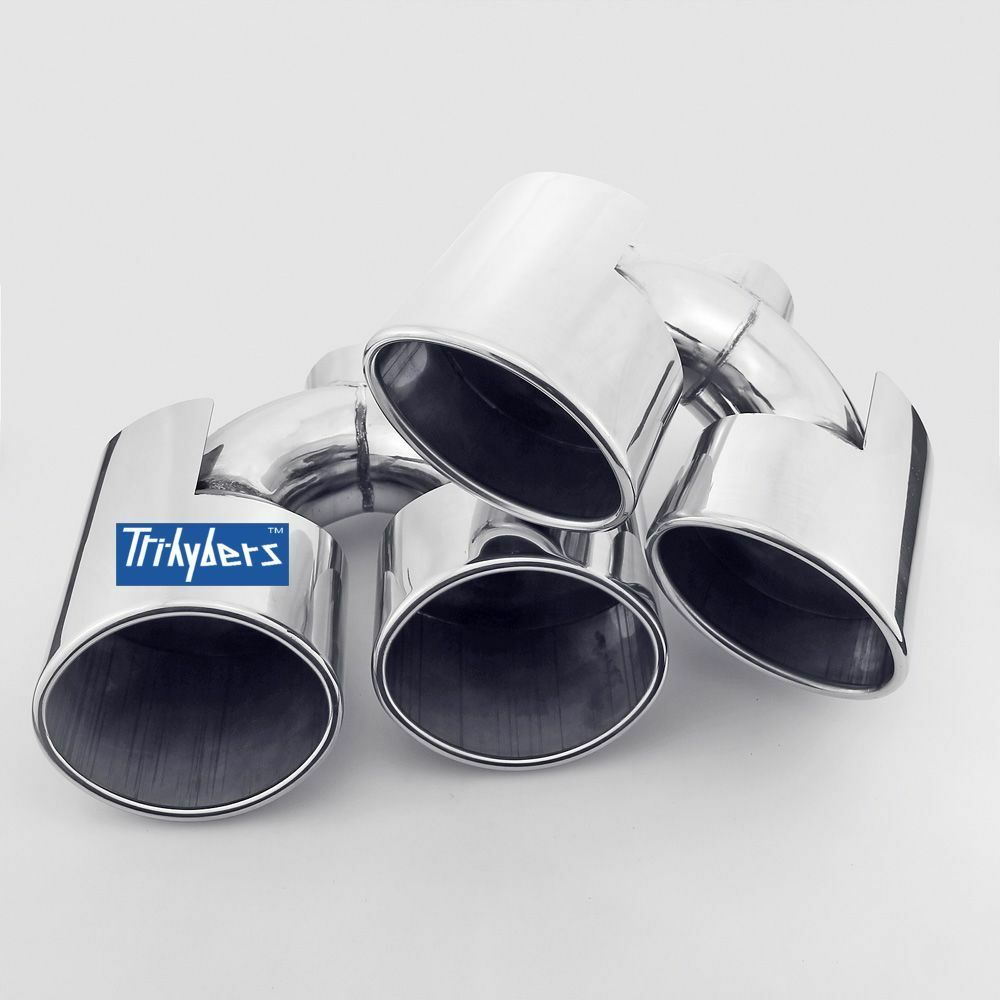 Oval Duplex Exhaust Tips For Mercedes C Class W204 AMG