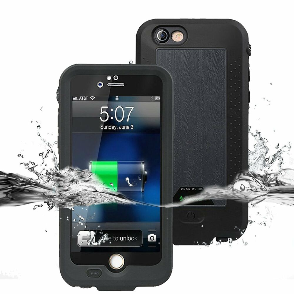 external battery for iphone 6 external power battery charger waterproof shockproof cover 1885