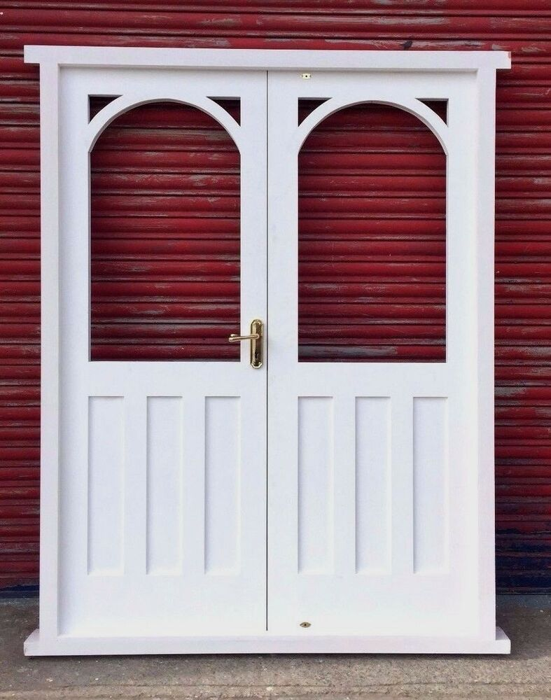 Timber wooden hardwood arched french doors vintage for Hardwood french doors