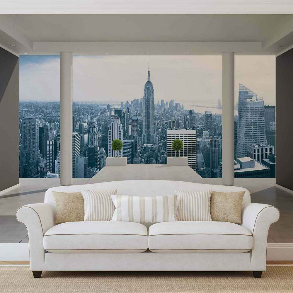 fototapete vlies fotomural xxl new york city 1323ws ebay. Black Bedroom Furniture Sets. Home Design Ideas