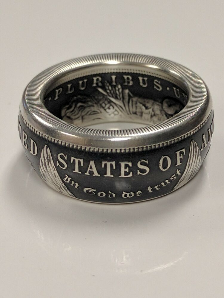Morgan Silver Dollar Coin Ring Sizes 8 15 90 Antique