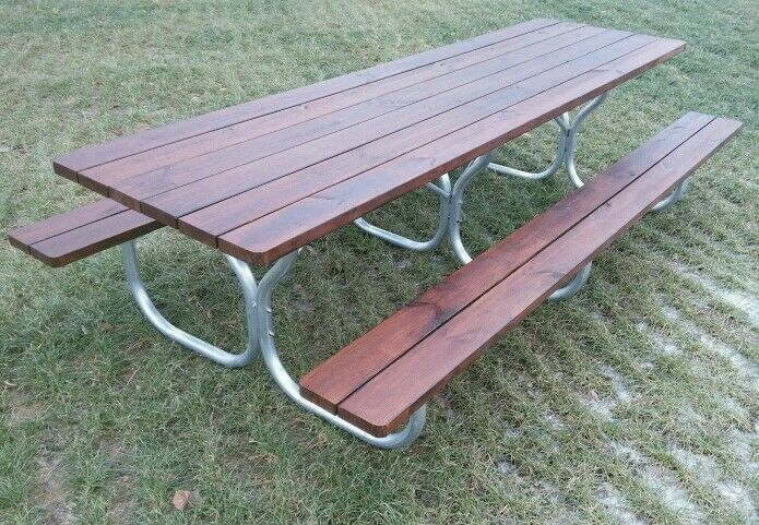 Aluminum heavy duty picnic table frame for for 12 foot picnic table