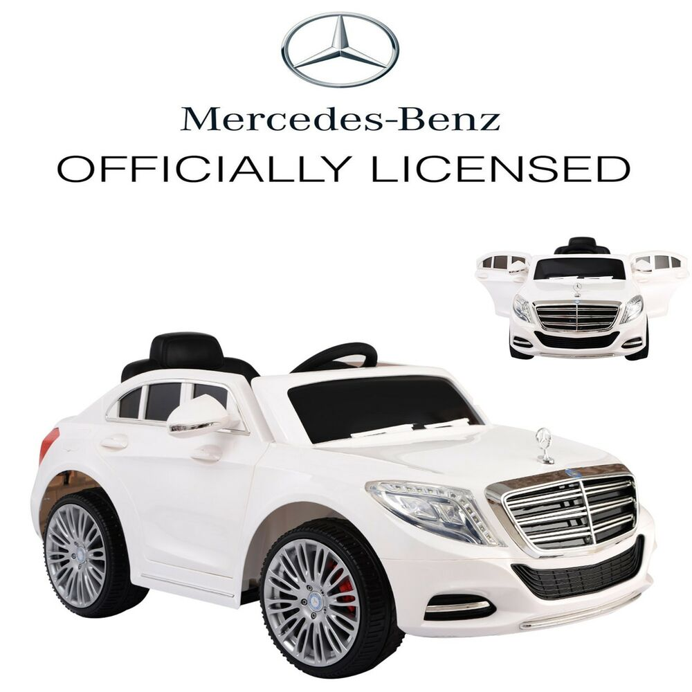 Licensed mercedes benz s600 kids ride on car 12v 2 4g for Remote control mercedes benz