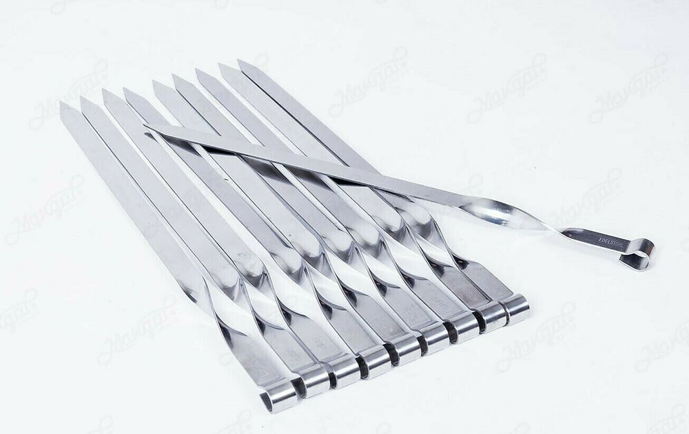 10 Bbq Skewers Flat 3 4 Quot Wide Stainless Stell Shish Kebob