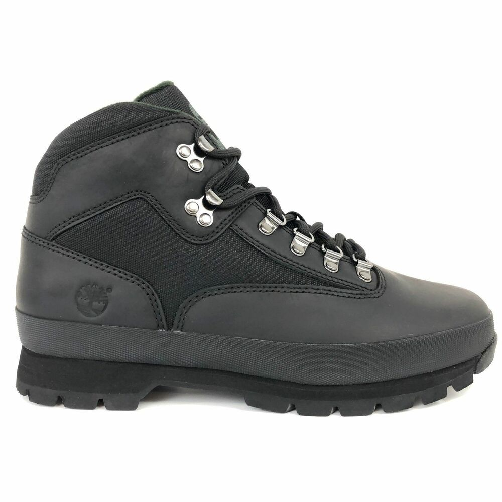 New Timberland Men S Classic Leather Euro Hiker Black