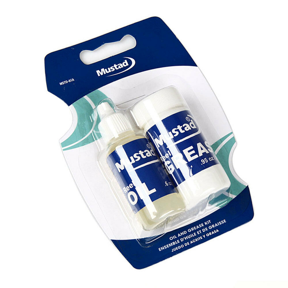 Mustad reel oil grease kit fishing reel spinning casting for Fishing reel grease
