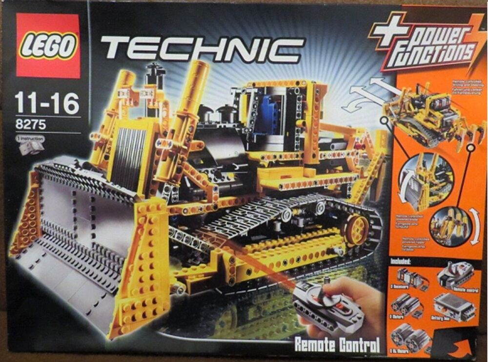 lego technic rc bulldozer mit motor 8275 ovp und. Black Bedroom Furniture Sets. Home Design Ideas