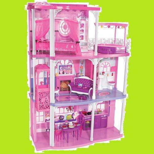 Dreams House Furniture: Mattel BARBIE Doll Pink 3-Story Dream House TOWNHOUSE